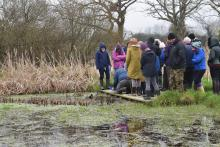Pond dipping for pond watch training 2019